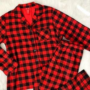 2 Piece Buffalo Plaid Flannel Pajamas
